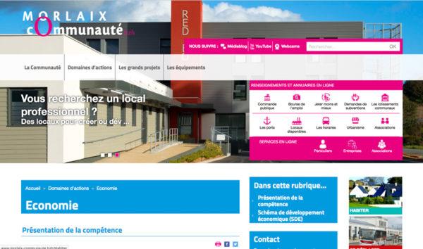 Le site internet de Morlaix Communauté