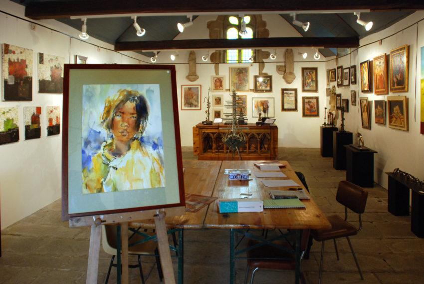 Expo à la chapelle Saint-Herbot de Taulé