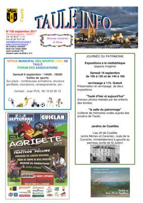 thumbnail of taule-info-108-septembre-2017