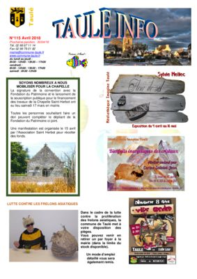 thumbnail of taule-info-115-avril-2018