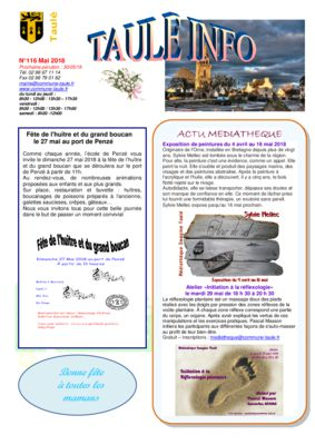 thumbnail of taule-info-116-mai-2018