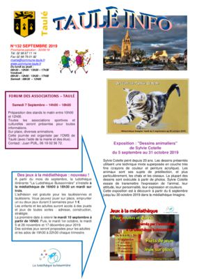 thumbnail of taule-info-132-septembre-2019