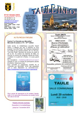 thumbnail of taule-info-121-octobre-2018