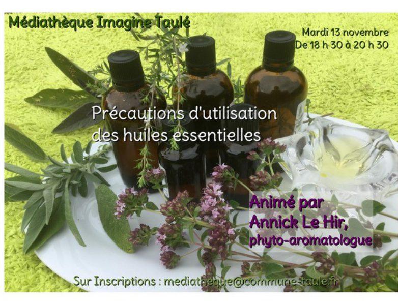 Atelier – Conférence : précautions d'utilisation des huiles essentielles