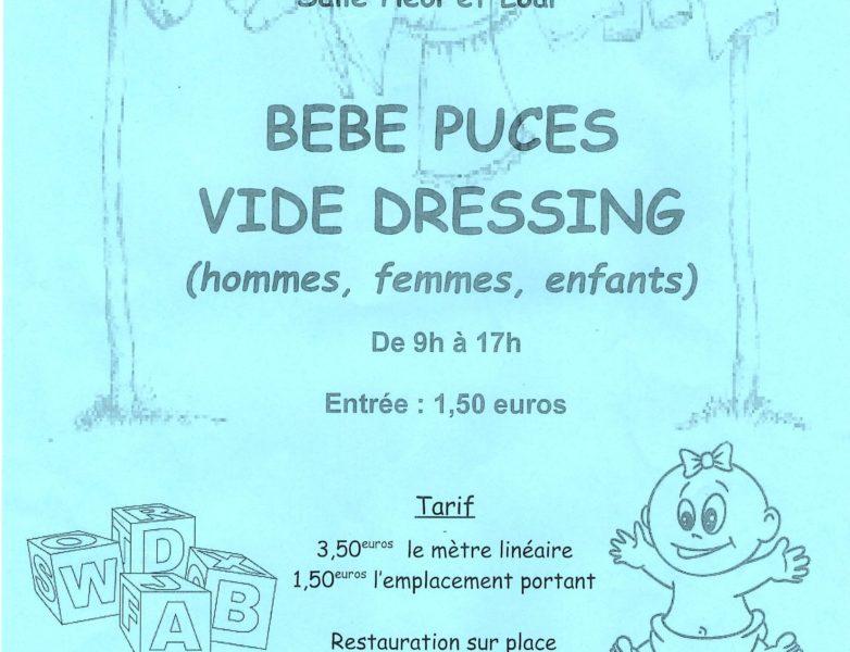 Vide dressing & bébé puces