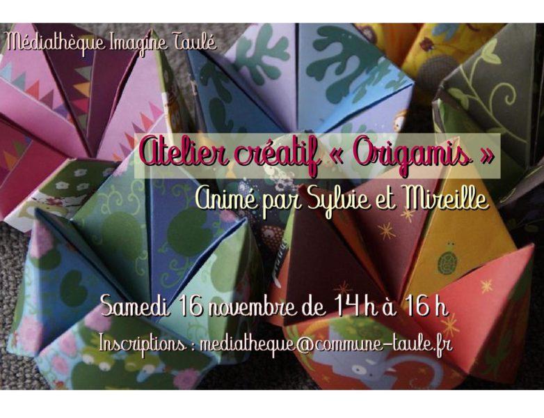Atelier créatif : initiation à l'origami
