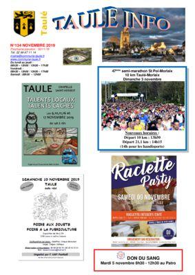 thumbnail of taule-info-134-novembre-2019