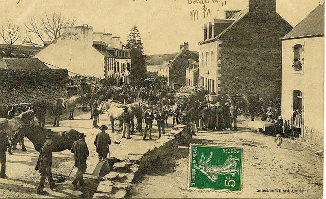 Une foire à Penzé en 1908