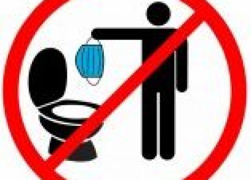 Appel au civisme : ne jetez pas vos masques dans les toilettes