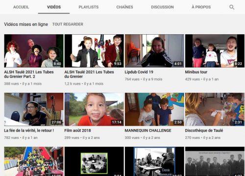 Découvrez la chaîne Youtube de l'ALSH
